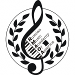 logo for Russian Music Academy of America with link to RMAOA calendar in caption