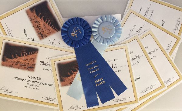 NVMTA 2017 piano concerto festival certificates-and-ribbons