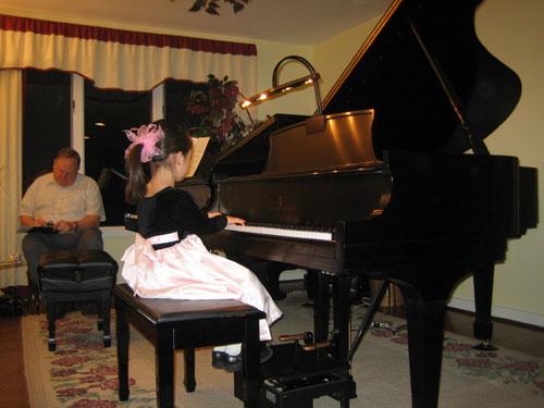 all ages participate in student recitals